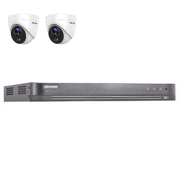 Hikvision  4 kanaals met 2 x 2MP camera