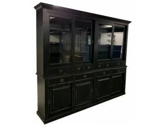 Buffetkast Blaricum zwart 270 x 48/45 x 225cm