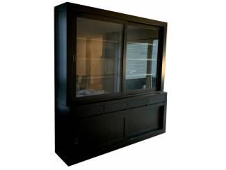 Buffetkast Design XL zwart - grijs 240 x 50/x40 x 240cm