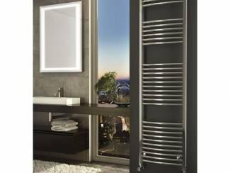 Sanifun handdoek radiator Medina Gebogen 80 x 40 Chroom.