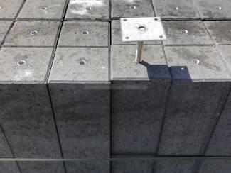 Betonpoer antraciet 15 x 15 x H58 cm inclusief hoogteverstelling