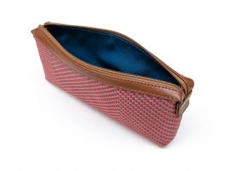 Handgemaakt oudroze handtasje uit Peru