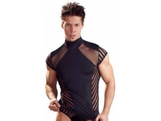 Zwart Shirt met Korte Mouwen - 2XL