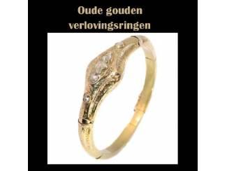 Vintage verlovingsringen van echt goud