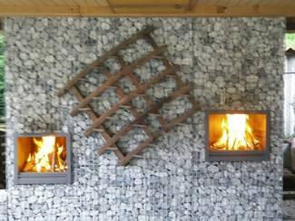 Kachels en Openhaarden Stalen buitenhaard in alle afmetingen hout of propaan stoken