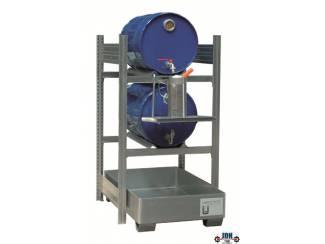 Olie en vloeistoffen opslag voor 60 liter vaten bij  JDH Tools