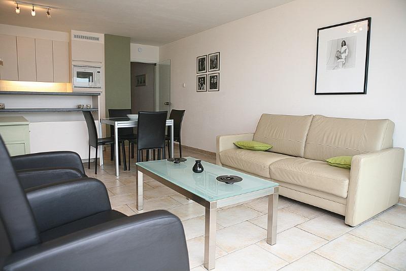 de panne : appartement midden op de zeedijk met 1 slaapkamer