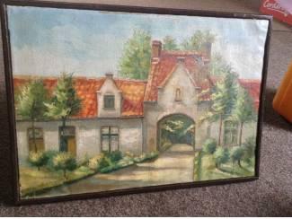 Schilderij van een zicht uit Brugge West-Vlaanderen BELGIE