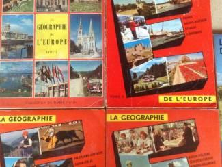4 BOEKEN;LA GEOGRAPHIE de L'EUROPE .4 LIVRES ancien ,instructif