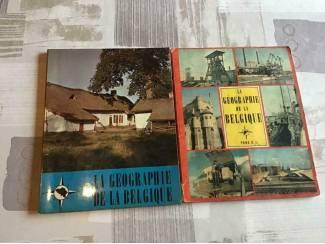 2 BOEKEN;LA GEOGRAPHIE d/L BELGIQUE,2 LIVRES ancien ècrits