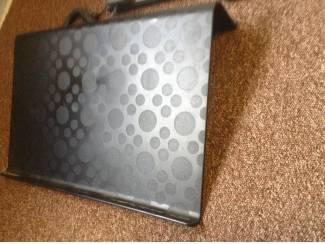 Laptop houder,kleur zwart ,grijs ,gespikkeld,design,zeer handig