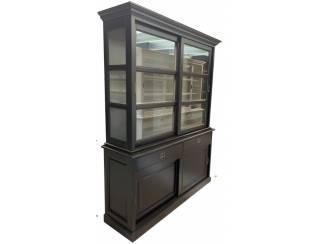Buffetkast Putten zwart - grijs 160 x 50/40 x 220cm