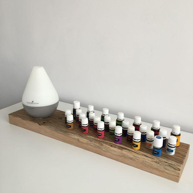 Essential oils plateau voor diffuser en olie flesjes