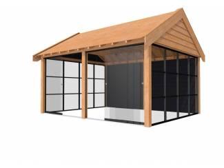 Tuinhuis douglas  Zadeldak  Premium 1: 500 x 310 cm