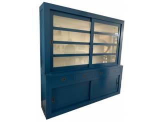 Buffetkast blauw ? wit Hasselt 220 x 50/40 x 220cm