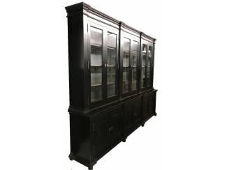 Buffetkast Lara zwart - grijs 300 x 50/40 x 240