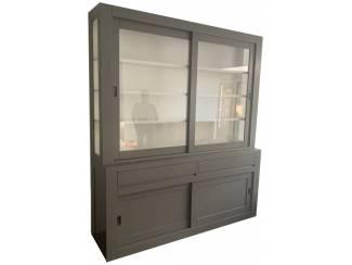Design buffetkast grijs Petten 200 x 50/40 x 240cm