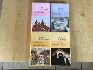 4 PRACHTIGE BOEKEN van Romans, Avontuur ,thrillers,enz