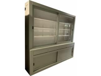 Buffetkast XL Engels groen design 260 x 240cm soft close