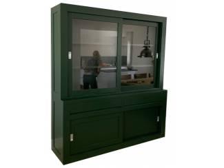 Buffetkast design soft close mosgroen 200 x 50/40 x 220