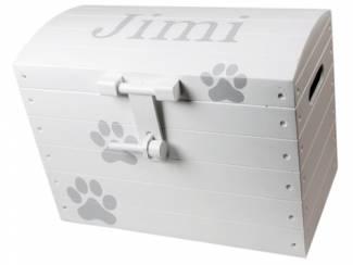 lkmn opbergkist spullen huisdier met naam multiplex ? wit
