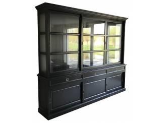 Buffetkast Sneek XL zwart - zwart 300 x 50/40 x 240
