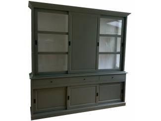 Buffetkast Engels groen Putten 240 x 240cm dichte deur
