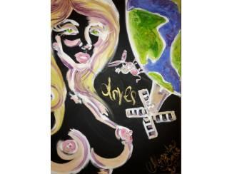 Uniek en apart, schilderij van Margaritha Bonke - Don Quijote