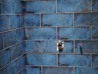 Cifre montblanc blue 20x50 cm diep blauwe wandtegel