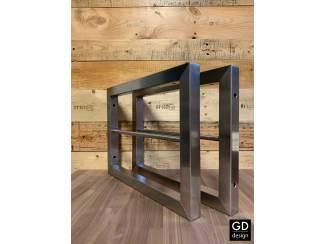 RVS plankdragers / wandsteunen op maat te bestellen