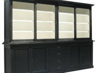Buffetkast Zwaag XL zwart - wit 300 x 45/40 x 220