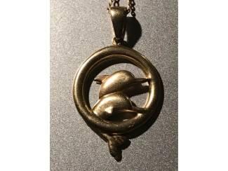 Gouden ketting met hanger dolfijn