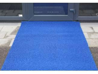Blauwe loper droogloopmat voor winkel of bedrijf