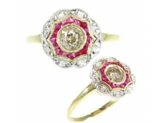 De perfecte gouden vintage verlovingsring