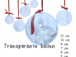 Kerstballen transparant om op te hangen en te knutselen