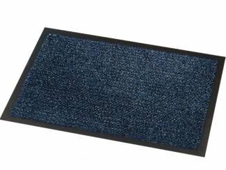 Overige Blauwe loper droogloopmat voor winkel of bedrijf