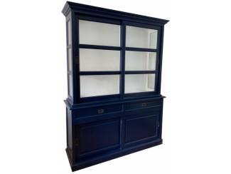 Buffetkast Montfoort blauw - wit 160 x 50/40 x 220