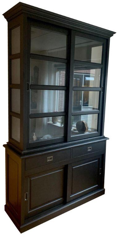 Buffetkast zwart - grijs Nijkerk 140 x 50/40 x 240cm