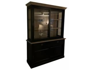 Buffetkast zwart Zaandam 160 x 220cm eiken natuur interieur