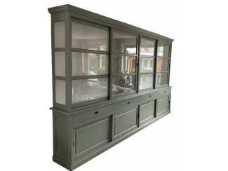 Buffetkast XXXL Engels groen - wit Putten XL 400 x 240cm