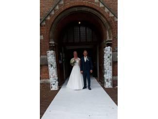 Loper wit voor een romantische bruiloft