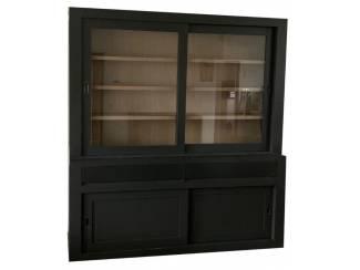 Buffetkast Design antraciet met eiken interieur 200 x 220cm