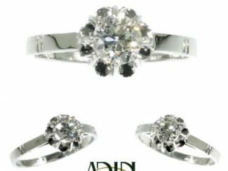Vintage verlovingsring met diamant om van te dromen.