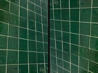 Groene 10x10 zelliges wandtegels online webshop tegelwalhalla