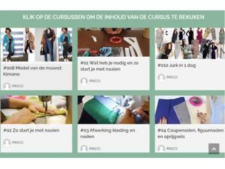 Online video naaicursussen/ lessen, patroontekenen en workshops.