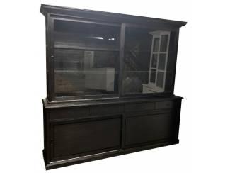 Buffetkast zwart - zwart Veghel 240 x 50/40 x 220cm