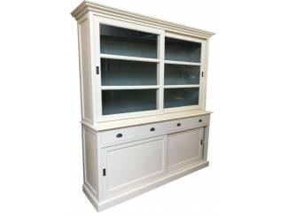 Buffetkast wit met grijze binnenkant 200 x 50/40 x 220