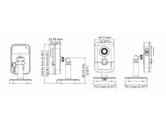 Overige Beveiligingscamera voor binnen met PoE ,12V en SD card