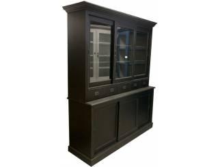 Buffetkast zwart - zwart Winsum 200 x 50/40 x 220cm