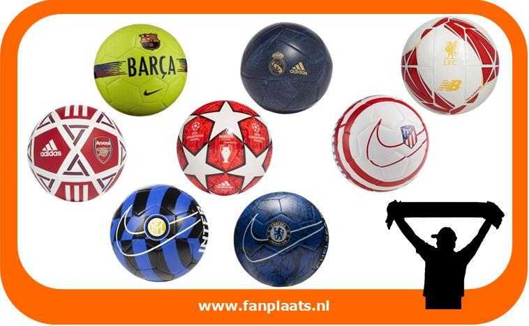Voetballen van Real Madrid, FC Barcelona, Ajax, etc.